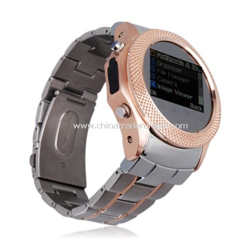 Quad Band Bluetooth FM 1.3 Inch Touch Screen Watch Cell Phone