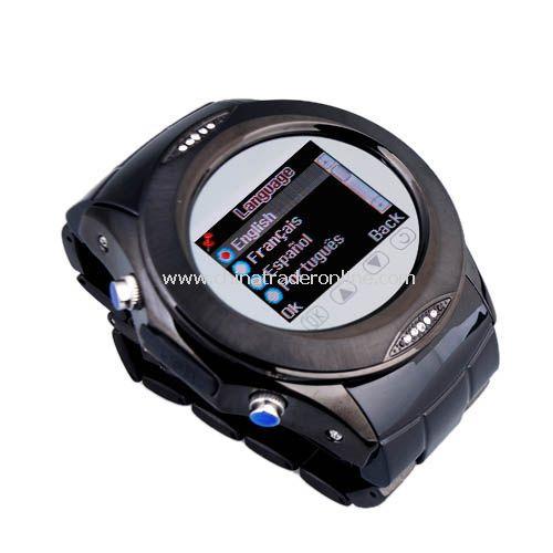 Quad Band Bluetooth Mp3 Mp4 Wrist Watch Cell Phone