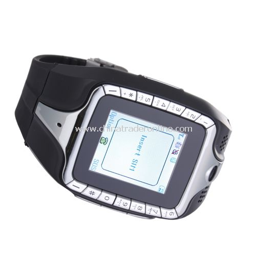 Tri Band Bluetooth Touch Screen FM Watch Cell Phone