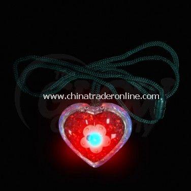 Flashing glitter Heart necklace