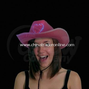 Flashing Pink Cowboy Hat from China