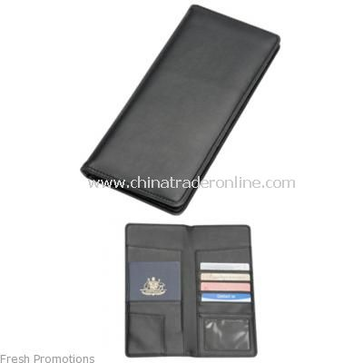 Travel Wallet In Imitation Leather
