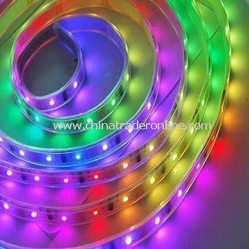 Flexible LED Strip Light with 5V DC Voltage, CE/RoHS Certificates