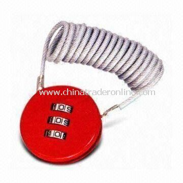 Portable Combination Lock, for Luggage Bags, Travel Bags and Briefcases