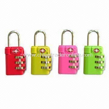 Three-dial Combination Padlock, Suitable for Luggages, Travel and Computer Bags