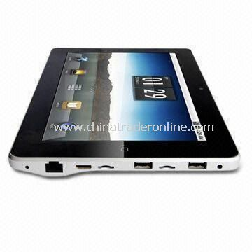 1,024 x 600p 10.1-inch Tablet PC with 256MB DDR2 Internal Memory and Wi-Fi Connectivity