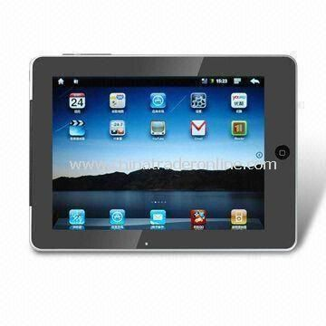 Tablet PC with 8-inch TFT Touchscreen and 1.3-megapixel Camera