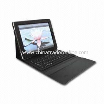 76 Key Keyboard, with Leather Case for Apples iPad and Keyboard Made of Silicone Material