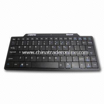 Hard Plastic Mini Bluetooth Keyboard for Apples iPad, Measuring 250 x 110 x 12mm