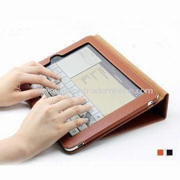 Leather case for iPad with desk stand function, PU material, various colors