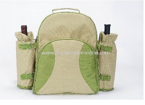 Picnic Backpack for 2 Person with 2 Wine Bag