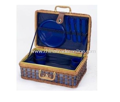 Picnic Basket Easily-Handled for 4 Persons