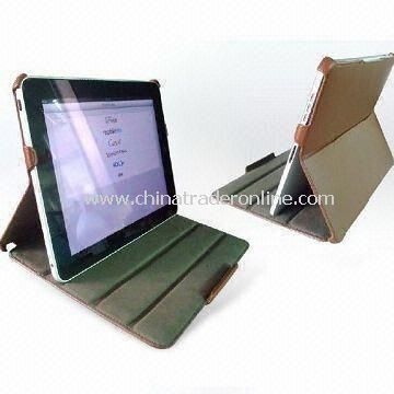 PU Leather Cases for iPad in Various Colors, Available with Desk Stand Function