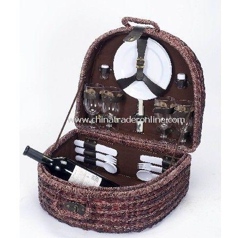 Seagrass Picnic Basket for 4 Person