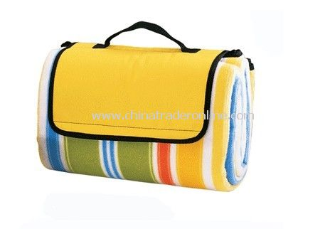 Stripe Fleece Polyester Picnic Rug
