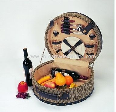 Wooden Picinc Basket for 2 Person