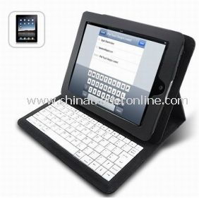Foldable iPad Leather Case with Built-in Keyboard