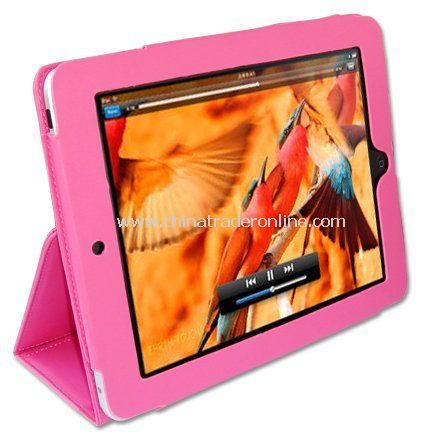 New first2savvv pink leather case pouch for Apple iPad from China