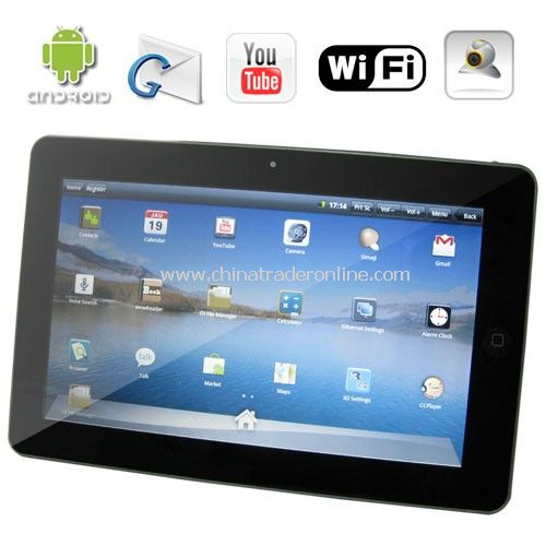 10.1 Inch GPS Netbook - Android OS 2.1 - 256MB RAM - 3G - WiFi - Sound Recorder