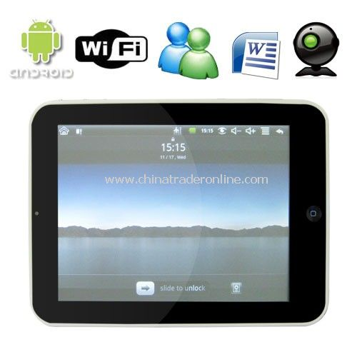 8 Inch Touch Screen Mini Tablet Computer with G-Sensor + WiFi + Android OS