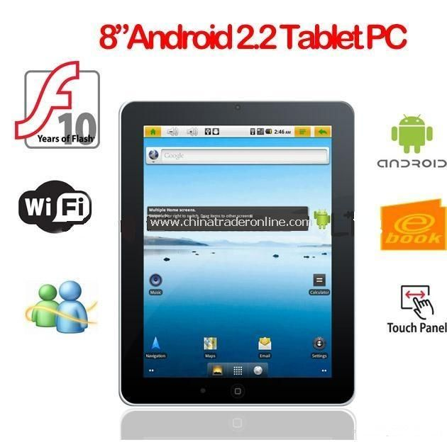 Android 2.2 Tablet PC Froyo Cortex Freescale IMX515 A8 800MHz 4GB