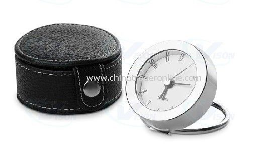 Travel Metal clock with Pouch