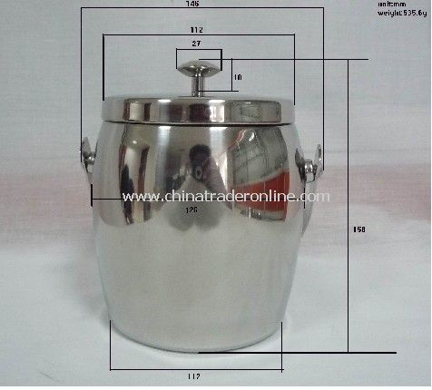 Stainless Steel Ice Bucket with Cover