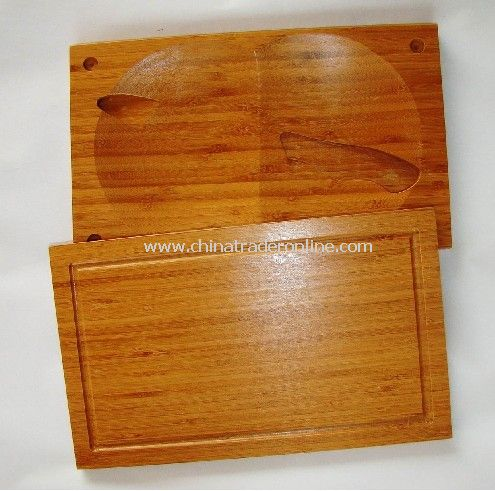 Bamboo Cutting Board with Knife Holder