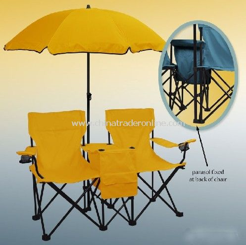 Beach Umbrella & Folding Chairs