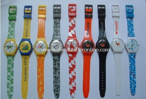 Promotional Plastic Watch Promotional Analog Watch Kids Watch Plastic Bangle Watch