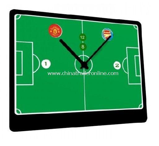 Calendar Clocks with Football-Play Teams Showed