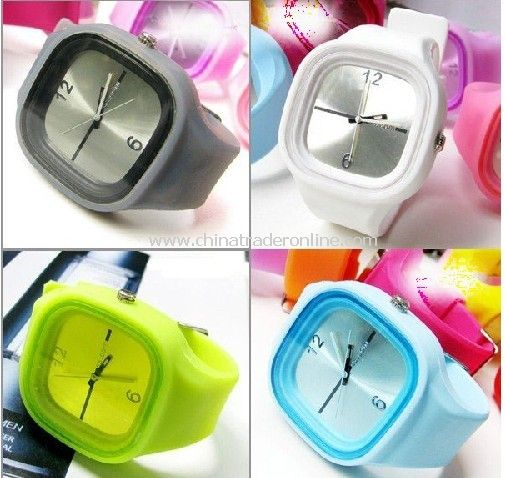 Colorful,Lively Fashion Watch---Silicone Jelly Watch from China