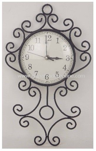 Metal Style Clock