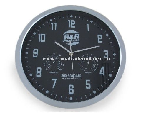 Promotional Wall Clock With Temperature And Humidity