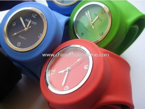 Silicone Minus Ion Slap Watch Sport Wristwatch from China