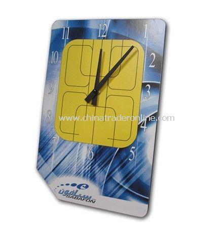 SIM Card Shape Wall Clock Made of MDF