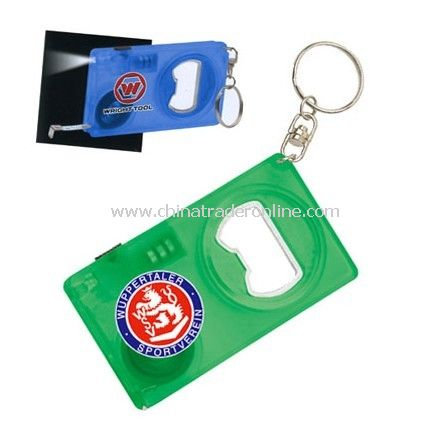 3 in 1 Bottle Opener with LED Light/Tape Measure
