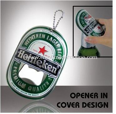 Bottle Opener Keychain with Logo Engraved from China