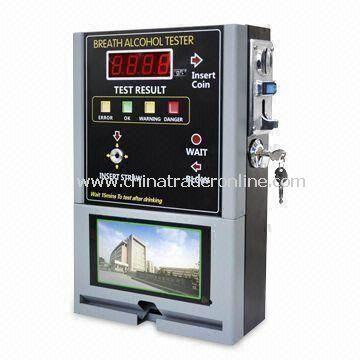 Coin Operated Alcohol Tester with Video, Powered by 110/220V AC Adapter