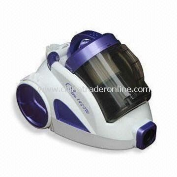 Cyclone Vacuum Cleaner, 4m of Cable Length, 1,400 and 1,200W Power