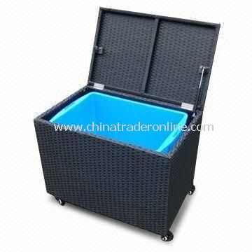 Drink Cooler with Aluminum Frame and Plastic Pot Inside