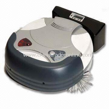Robotic Vacuum Cleaner with Docking Station, 25V DC Adapter Output Voltage, Measures 34 x 34 x 9.5cm