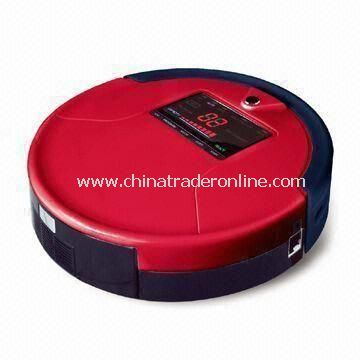 Robotic Vacuum Cleaner with Li-ion Battery and Mop to Clean the Floor and LED Screen