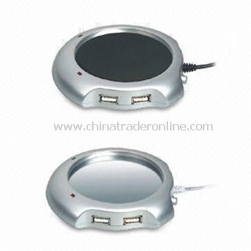 USB Drink Warmer with USB Hub and 60 Degrees Celsius Heating Temperature