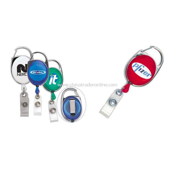 Carabiner Style Retractable Badge Reel