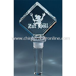 Image 3 Crystal(TM) Diamond Wine Bottle Stopper