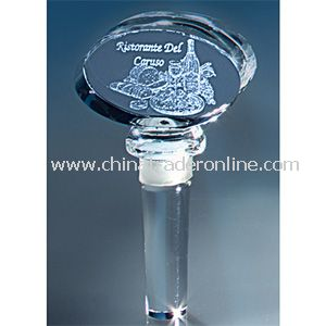 Image 3 Crystal(TM) Oval Wine Bottle Stopper