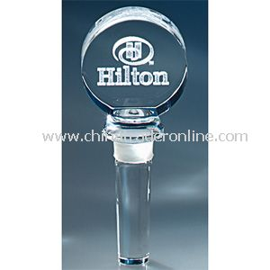 Image 3 Crystal(TM) Round Wine Bottle Stopper