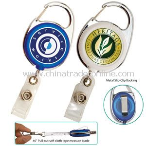 Retractable Carabiner Badge Reel with 40 Soft Cloth Tape Measure Blade from China