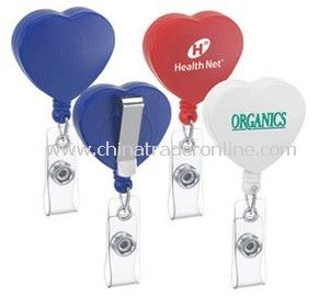 Heart-Shaped Badge Holder from China